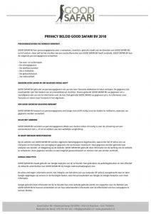 thumbnail of Privacy beleid Good Safari BV