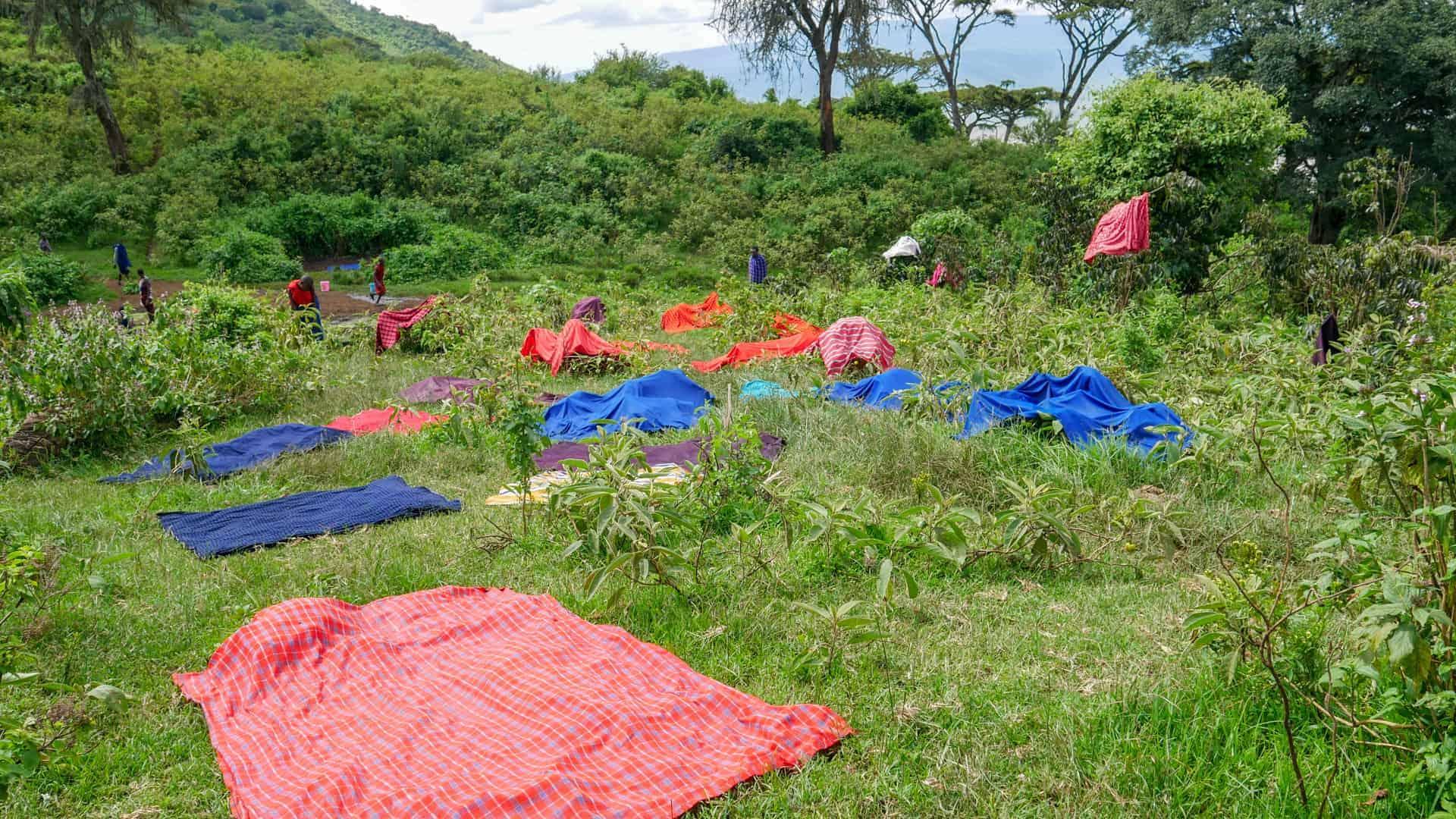 Ngorongoro krater Maasai wassen_